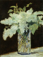 Edouard Manet White Lilacs in a Glass Vase