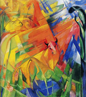 Franz Marc Animals in a Landscape