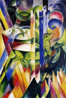 Franz Marc The Little Mountain Goats