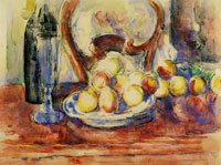 Paul Cezanne Apples, Bottle and Chairback