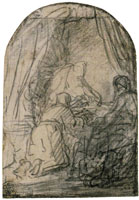 Rembrandt Study for Isaac Blessing Jacob