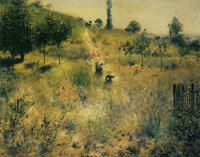 Pierre-Auguste Renoir Road Rising into Deep Grass