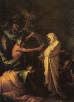 Salvator Rosa The Ghost of Samuel Appearing to Saul and the Witch of Endor