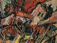Chaim Soutine Landscape with Red Roofs