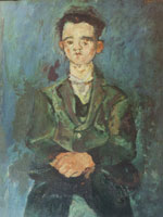 Chaim Soutine Portrait of a Boy in Blue