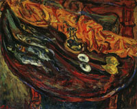 Chaim Soutine Still Life with Fish, Eggs and Lemons