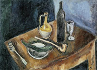 Chaim Soutine - Still Life with Pipe