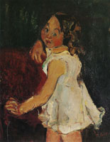 Chaim Soutine - Young Girl by an Armchair