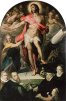 Bartholomeus Spranger - Epitaph of Nikolaus Müller (Resurrected Christ Triumphant over Death)