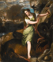 Titian and workshop Saint Margaret