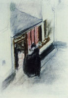 Edouard Vuillard In Front of the Concierge's Lodge
