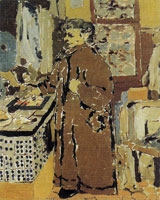 Edouard Vuillard Madame Vuillard in Her Kitchen