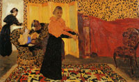 Edouard Vuillard Interior with a Red Bed or The Bridal Chamber