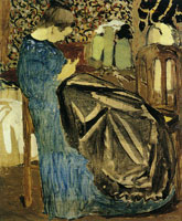 Edouard Vuillard Seamstress with Large Piece of Cloth
