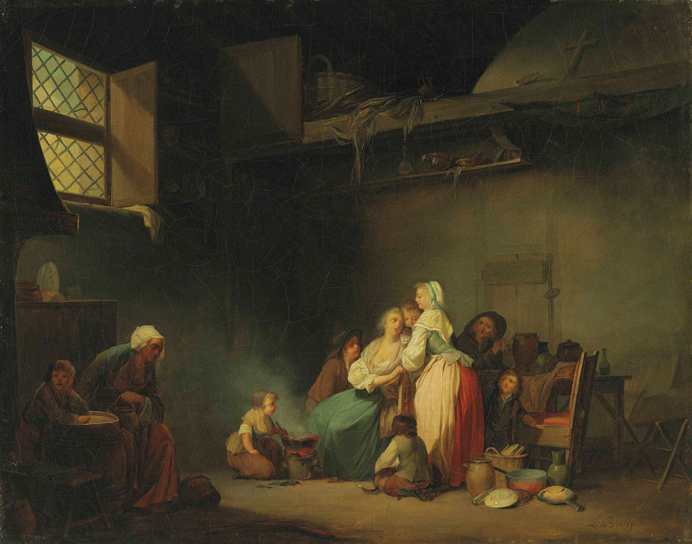 Louis-Léopold Boilly - The soup for the cats