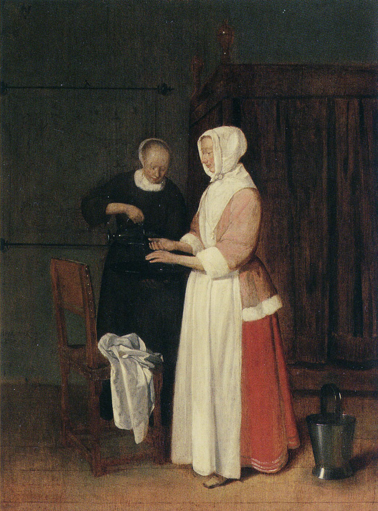Quiringh van Brekelenkam - Woman Washing her Hands