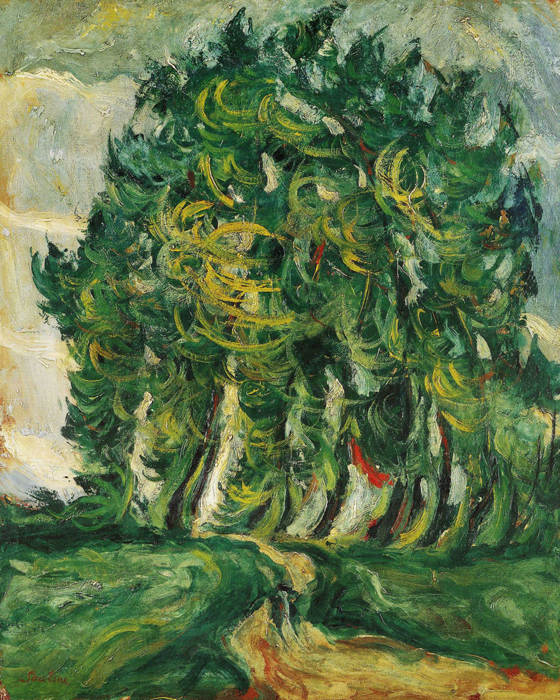 Chaim Soutine - Trees at Auxerre