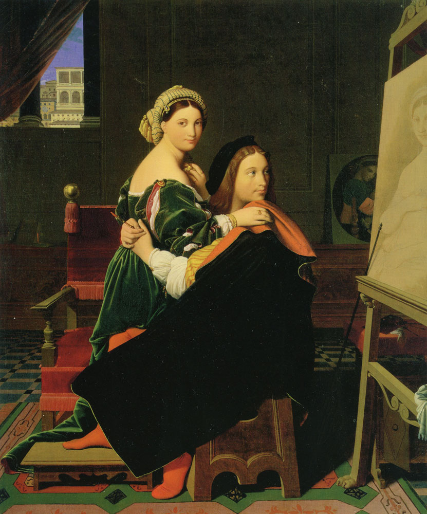 Jean Auguste Dominique Ingres - Raphael and the Formarina
