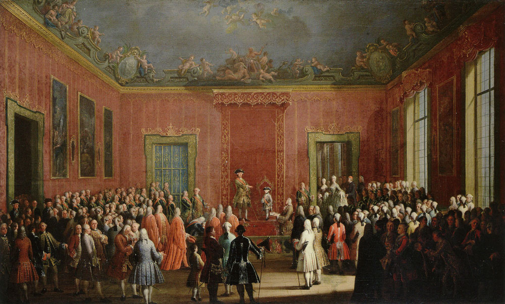 Antonio Joli - The Abdication ...