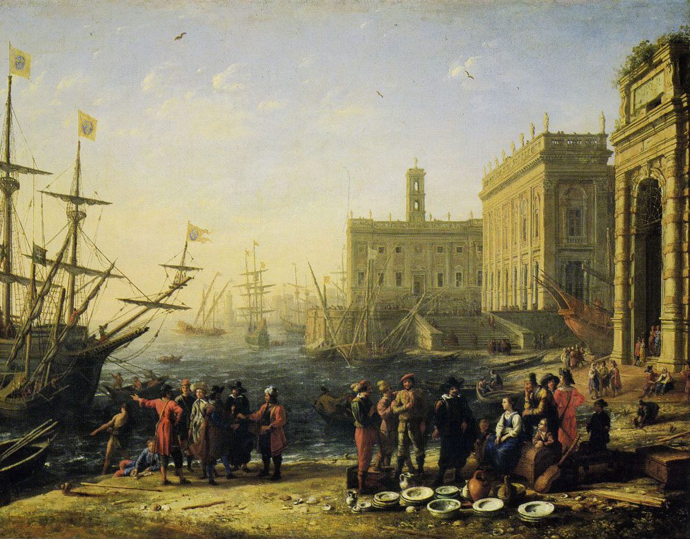 Claude Lorrain - View of a Seaport with the Capitol