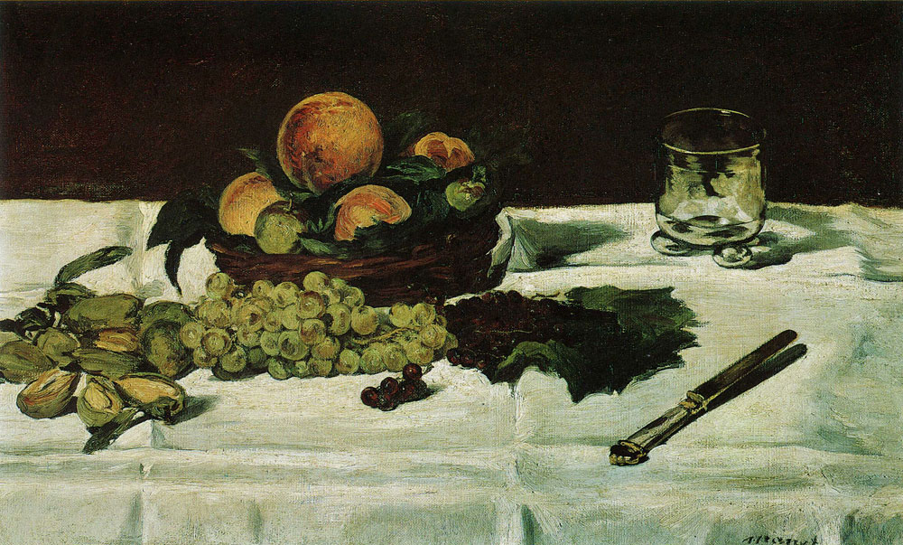 Edouard Manet - Still Life: Fruit on a Table