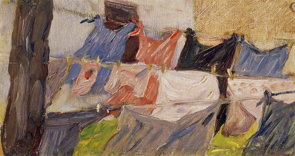 Franz Marc - Laundry Fluttering in the Wind