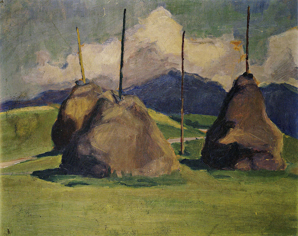 Franz Marc - Haystacks