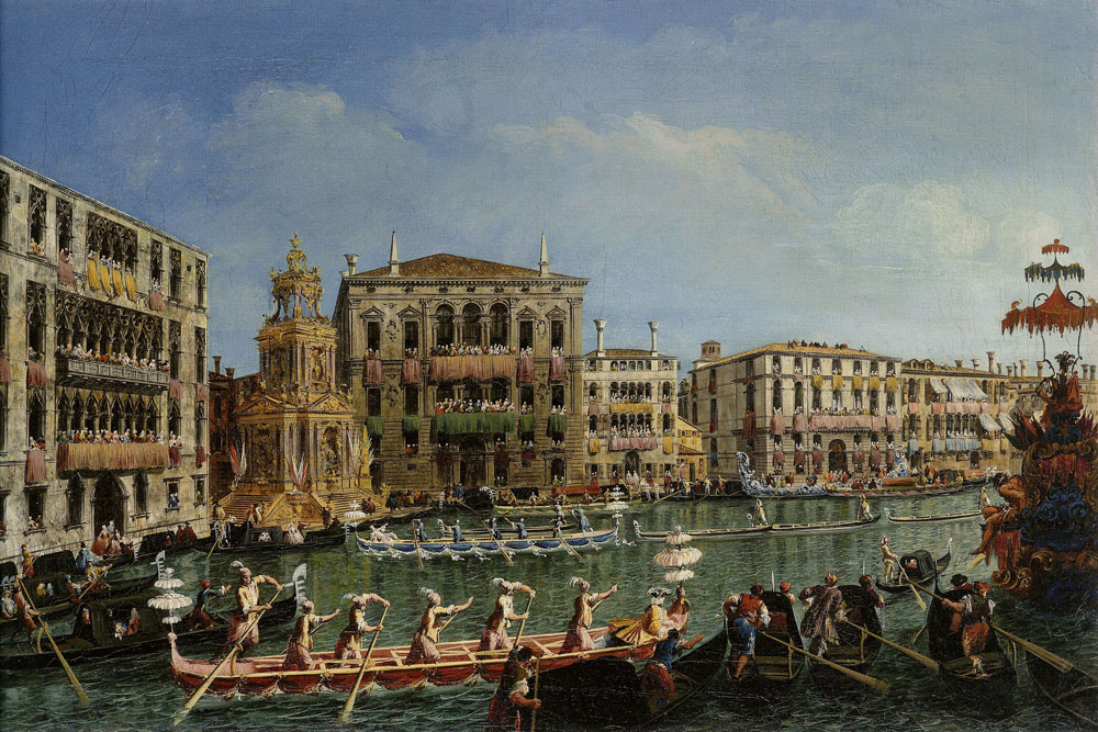 Michele Marieschi - The Regatta in Honor of Prince Friedrich Christian of Saxony