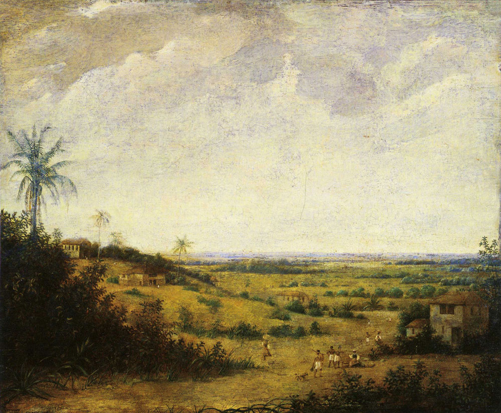 Formerly attributed to Frans Post - Brazilian Landscape