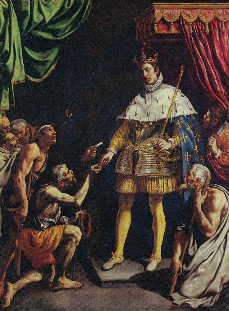 Luis Tristan - St, Louis, King of France, Distributing Alms