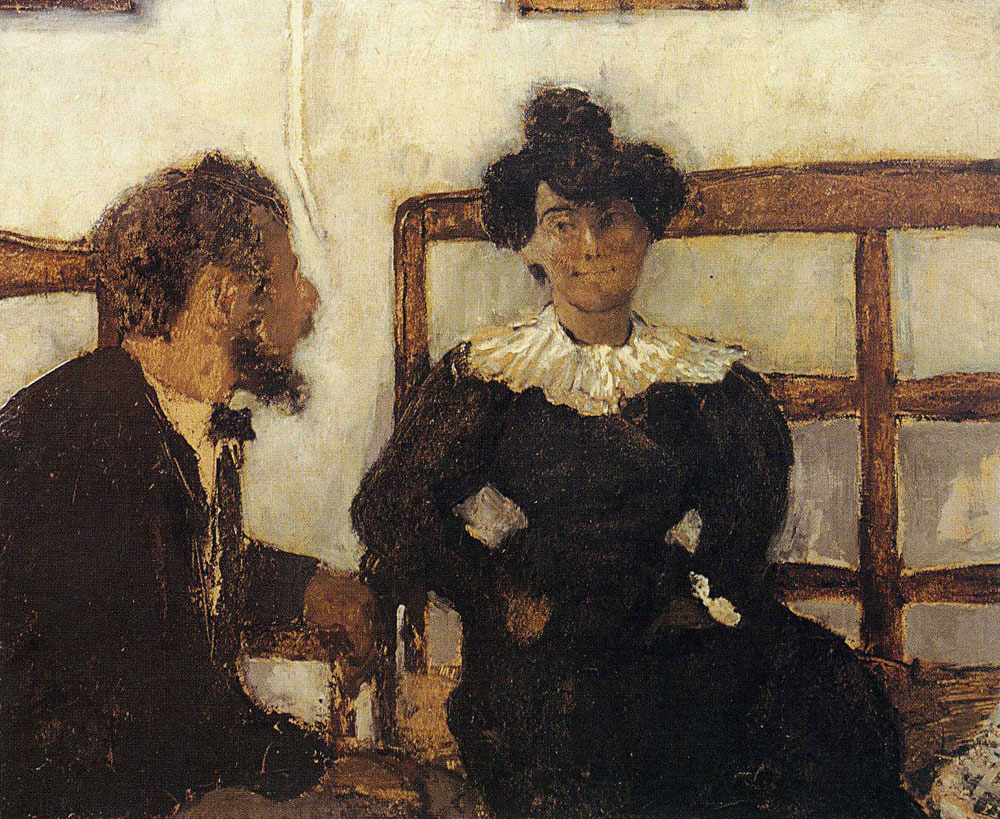 Edouard Vuillard - The Conversation (Alfred Natanson and Marthe Mellot)
