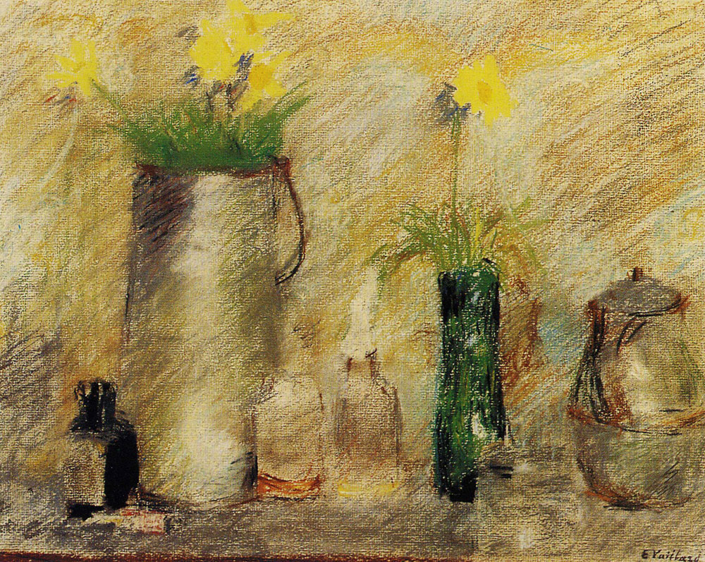 Edouard Vuillard - Still Life with Flowers and a Bottle