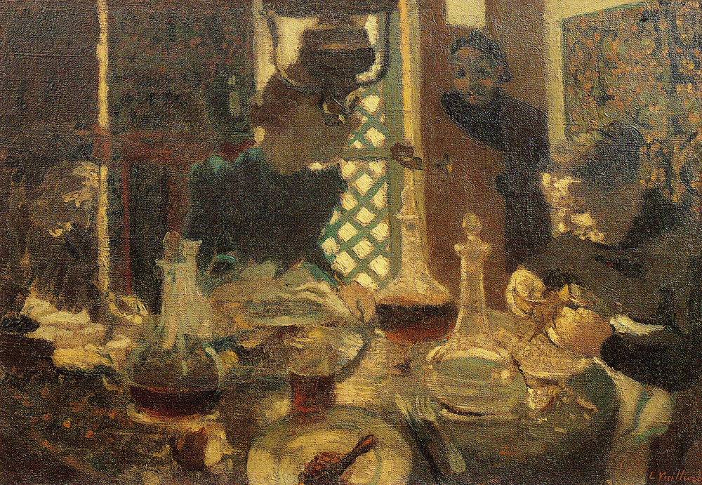 Edouard Vuillard - At Table, Lunch