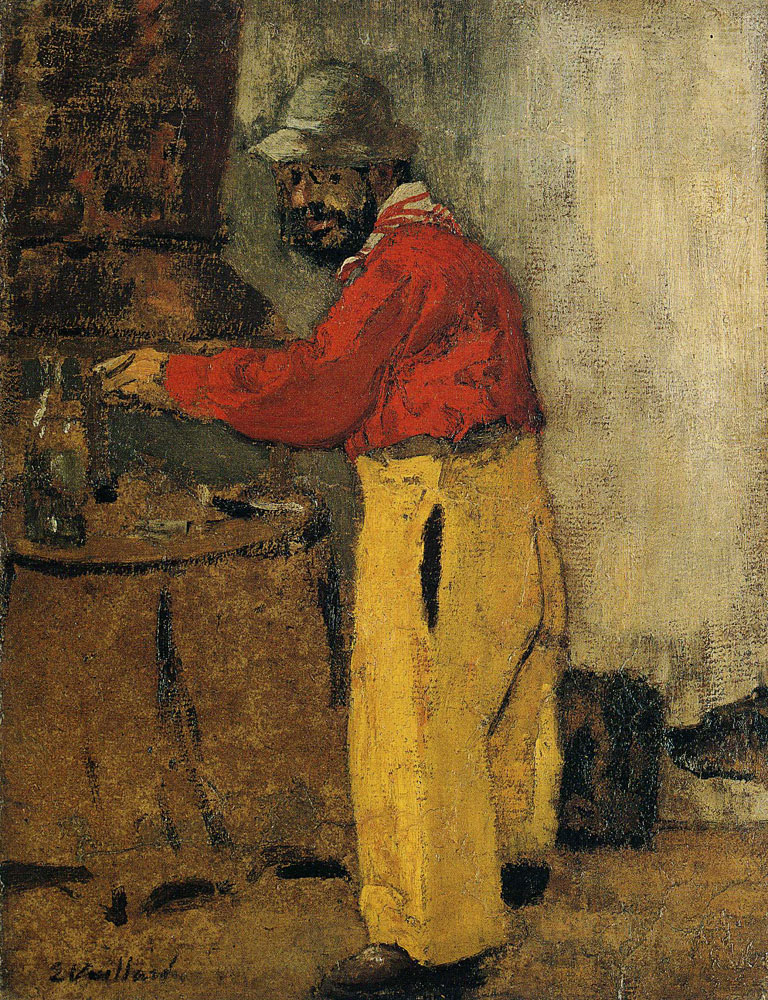 Edouard Vuillard - Toulouse-Lautrec Cooking at the Natansons' at Villeneuve-sur-Yonne