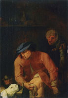 Adriaen Brouwer The Father's Disagreeable Task (Smell)