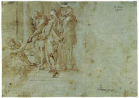 Bartholomeus Spranger Peter and John Heal a Cripple at the Gate of the Temple