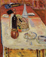 Pierre Bonnard Still Life with Bottle of Red Wine