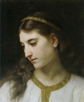 William-Adolphe Bouguereau Head of an Angel