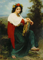 William-Adolphe Bouguereau Italian Girl with a Tambourine