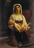 William-Adolphe Bouguereau Prayer to the Virgin