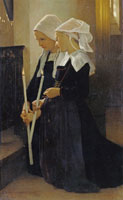 William-Adolphe Bouguereau - The Vow in Sainte-Anne d'Auray