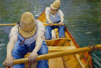 Gustave Caillebotte Oarsmen on the Yerres