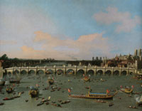 Canaletto - Westminster Bridge with the Lord Mayor's Procession on the Thames