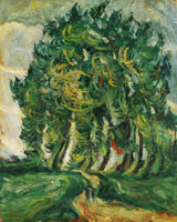 Chaim Soutine Trees at Auxerre