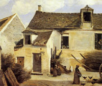 Camille Corot - Courtyard of a Peasant's House near Paris
