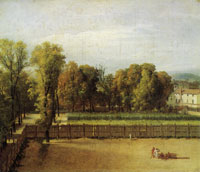 Jacques-Louis David - View of the Luxembourg Gardens in Paris