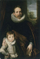 Anthony van Dyck Portrait of a Father and His Son, Also Known as Guillaume Richardot