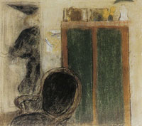 Edouard Vuillard Female Silhouette and Green Cupboard