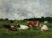 Eugène Boudin Cows at Pasture
