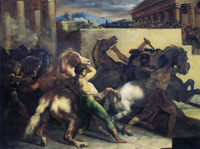 Théodore Géricault - Race of Wild Horses in Rome